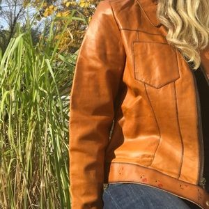 Wilsons Leather Painted Genuine Leather Jacket L